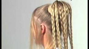Свадебная прическа с собранными волосами и плетением!