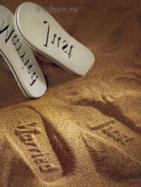 Пляжные сандалии для молодоженов