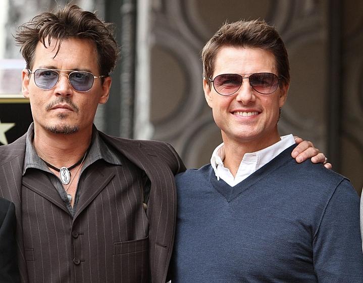 Джонни Депп и Том Круз открыли звезду на Аллее славы!