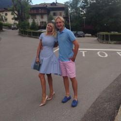 Рудковская и Плющенко прогулялись с сыном.