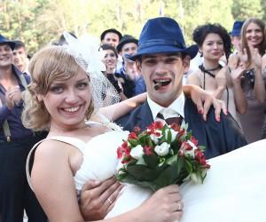 Свадьба в стиле гангстерской вечеринки!