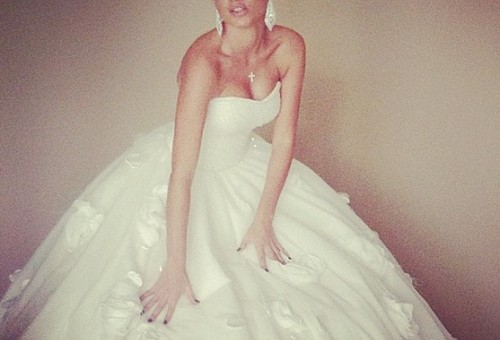 Ксения Бородина похвасталась свадебным платьем