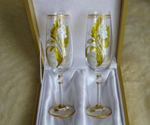 Багетное стекло, ручная роспись, с коробкой 3500