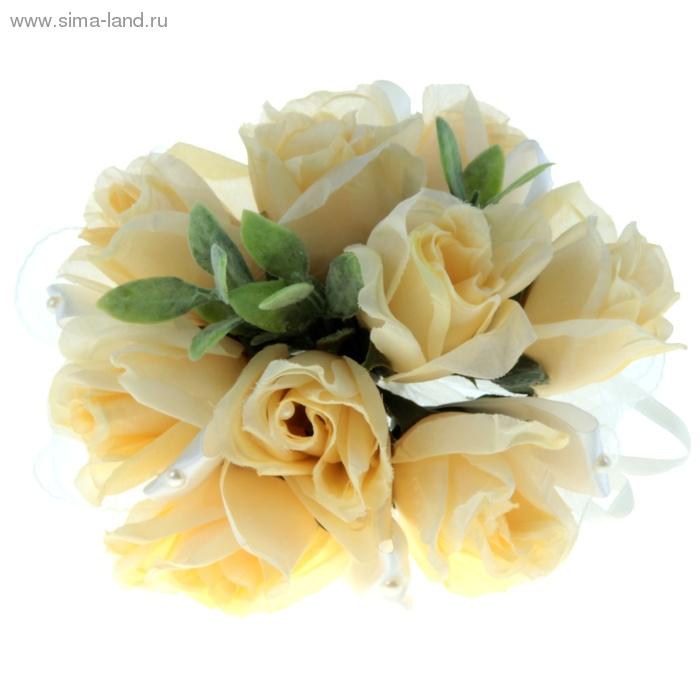 Букет-дублер невесты, ораньжевые розы, 9 шт