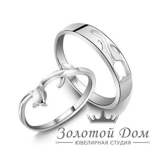 """Обручальные кольца из серебра """"Роза"""""""