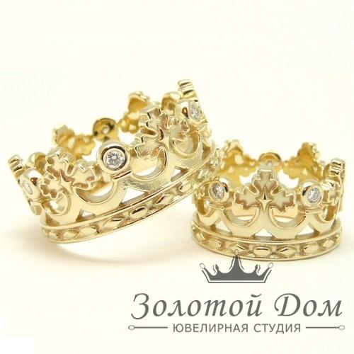"""Обручальное кольцо """"Корона"""" Классическое"""