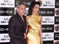 Золотая леди: Джордж и Амаль Клуни на премьере фильма в Токио