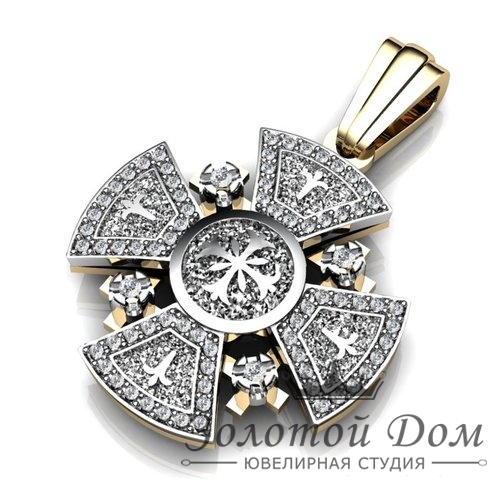 Крест нательный с бриллиантами