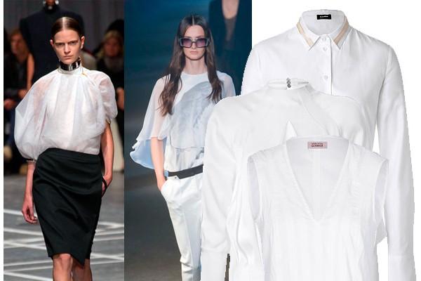 Белая блузка - модное решение